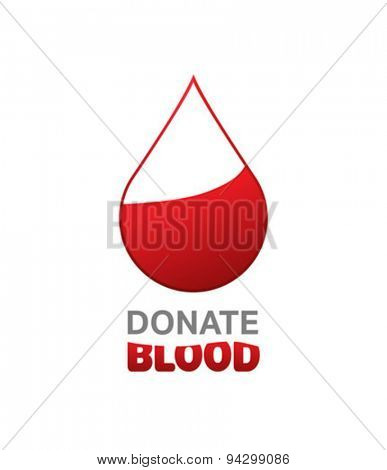 Digitally generated donate blood vector