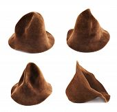 pic of warlock  - Brown hat isolated over white background - JPG