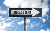 foto of directional  - Direction direction sign with sky background - JPG