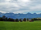 stock photo of bavarian alps  - The Bavarian Alps near  the German - JPG