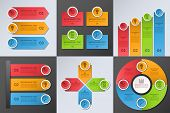 picture of four  - Collection of design elements for business infographics - JPG