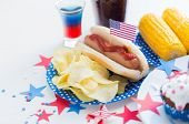 stock photo of hot dogs  - national holidays - JPG
