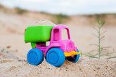 stock photo of dump_truck  - Toy dump - JPG