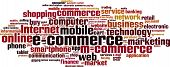 image of electronic commerce  - Electronic commerce word cloud concept - JPG