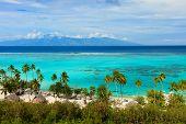 image of french polynesia  - Beautiful coastal landscape of Moorea island in French Polynesia - JPG
