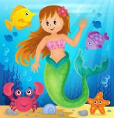 stock photo of mermaid  - Mermaid theme image 2  - JPG