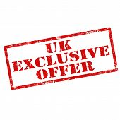 image of exclusive  - Grunge rubber stamp with text UK Exclusive Offer - JPG