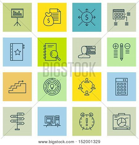 Set Of 16 Universal Editable Icons For  Topics. Includes Icons Such As Growth, Money, Decision Makin