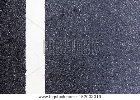 Asphalt Road Background With Traffic Line-close Up