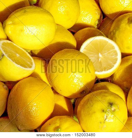 The lemons on bazaar in Tel Aviv Israel December 12 2012