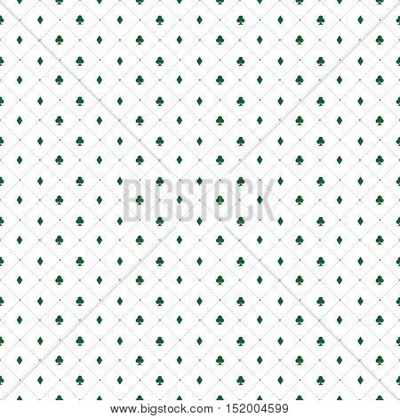 abstract poker background with some special objects green clover and diamond