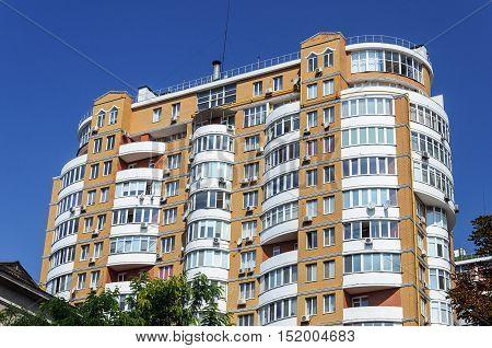 Modern many-storied residential building in Odessa Ukraine