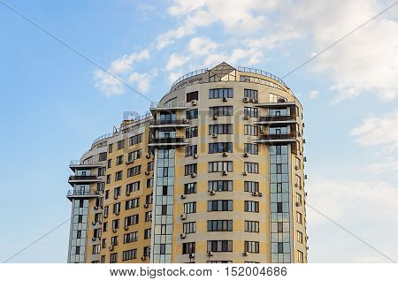 Top of new many-storied building in Odessa Ukraine