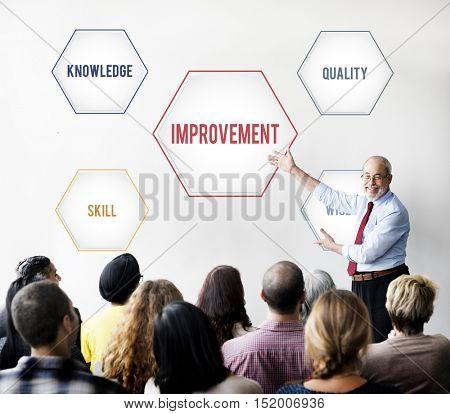 Improvement Success Training Geometric Forms Graphic