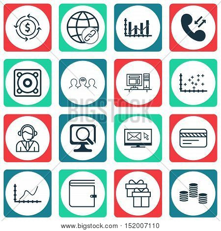 Set Of 16 Universal Editable Icons For Travel, Project Management And Airport Topics. Includes Icons