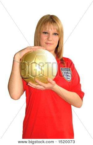 Blonde And Soccer Ball