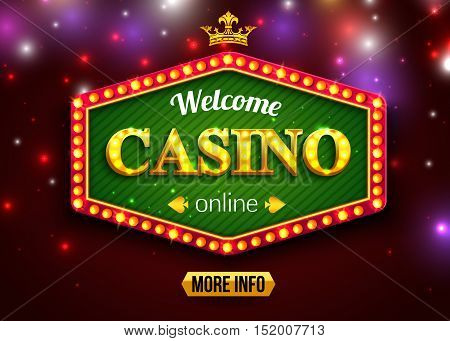 Online casino background for poster, flyer, billboard, web sites, gambling club. Vector eps 10 format.