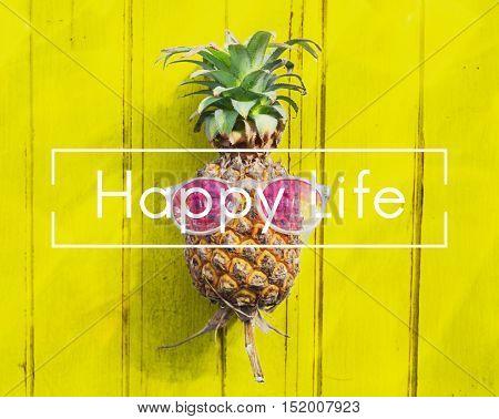 Happy Life Attitude Balance Cheerful Mind Relax Concept