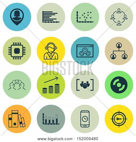 Set Of 16 Universal Editable Icons For Statistics, Airport And Human Resources Topics. Includes Icon