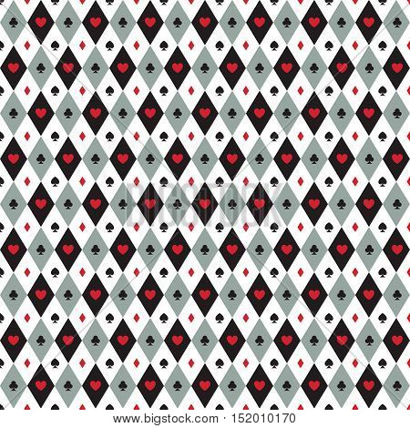 abstract poker background with some special objects clover heart diamond