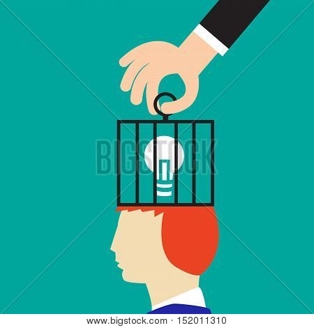 New Idea is locked by bad education vector design