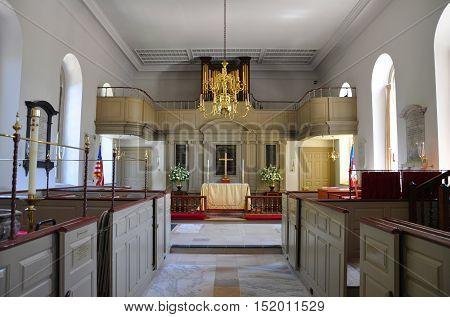 Bruton Parish Episcopal Church of British Colony, Williamsburg, Virginia, USA.