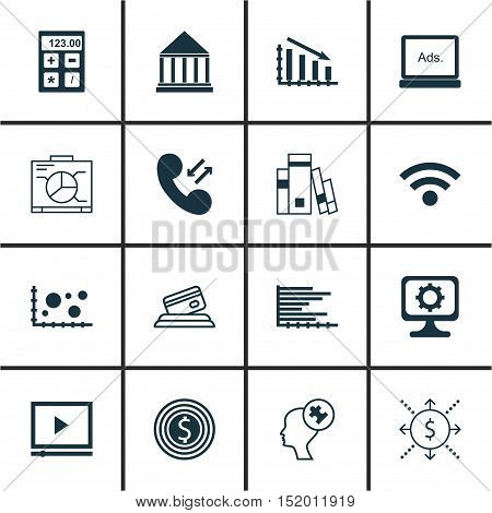 Set Of 16 Universal Editable Icons For Airport, Seo And Project Management Topics. Includes Icons Su