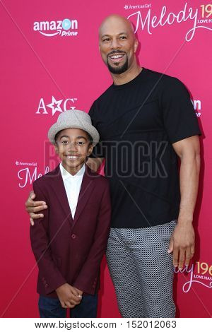 LOS ANGELES - OCT 10:  Miles Brown, Common at the
