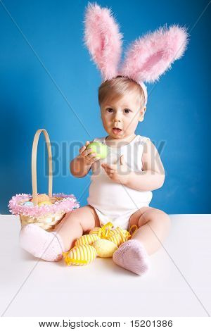 Babe With Easter Basket
