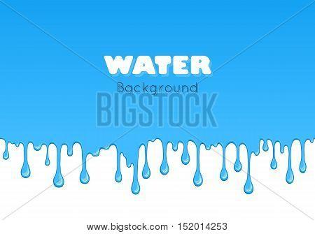 Background Of Dribble Blue Liquid.