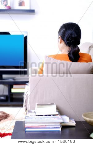 Women Watching Television