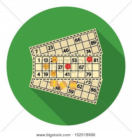 Bingo icon in flat style isolated on white background. Board games symbol vector illustration.