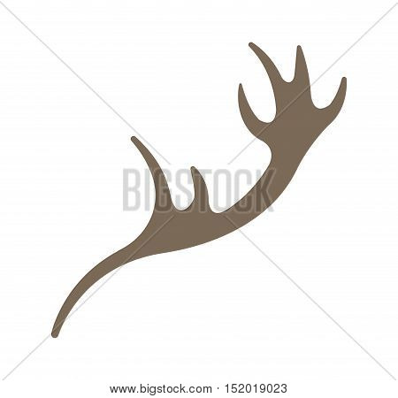 horns reindeer isolated icon vector illustration design
