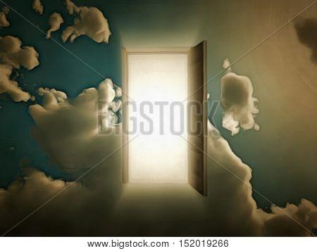 Doorway to another world 3D Render