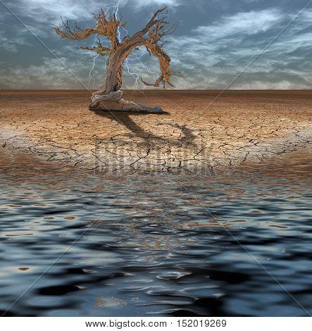 Desert Deluge 3D Render
