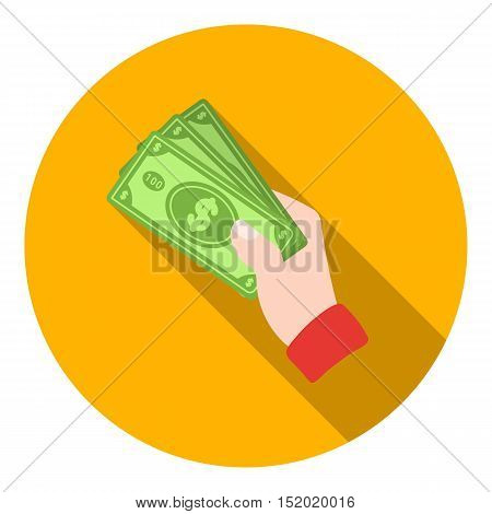 Cash icon in flat style isolated on white background. E-commerce symbol vector illustration.