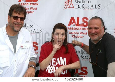 LOS ANGELES - OCT 16:  Fred Fisher, Nanci Ryder, ALS Drug Exec at the Los Angeles Walk To Defeat ALS at the Exposition Park on October 16, 2016 in Los Angeles, CA