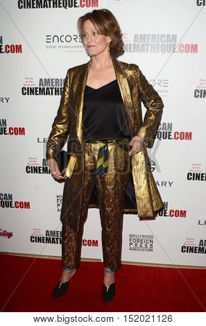 LOS ANGELES - OCT 14:  Sigourney Weaver at the 2016 American Cinematheque Awards at Beverly Hilton Hotel on October 14, 2016 in Beverly Hills, CA
