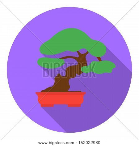 Bonsai icon in flat style isolated on white background. Japan symbol vector illustration.