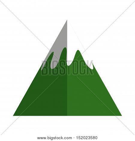 mountain peak ice icon vector illustration design