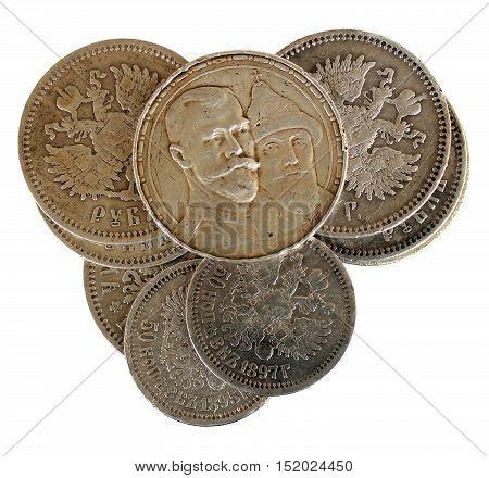 Coins Money with last Emperor Nikolas Romanov II of Russia