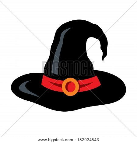 Headdress of the evil sorceress. Isolated on a white Background