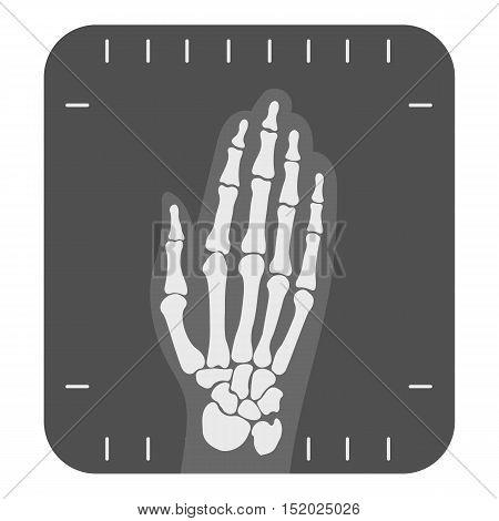 X-ray hand icon monochrome. Single medicine icon from the big medical, healthcare monochrome.