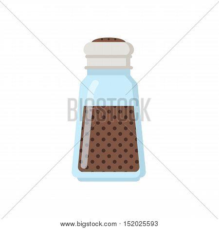 Glass spice jar vector illustration. Glass jar pot icon.