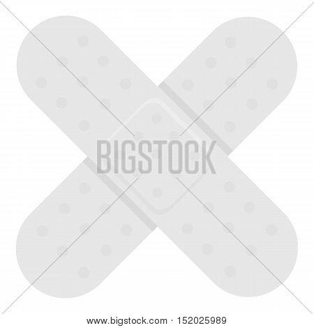 Adhesive plaster icon monochrome. Single medicine icon from the big medical, healthcare monochrome.