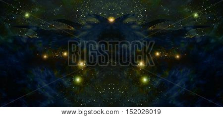 space cosmic background with stars and shinning light