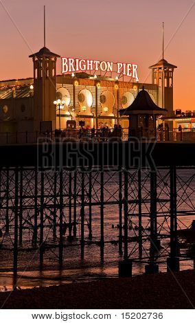 Brighton Pier by night