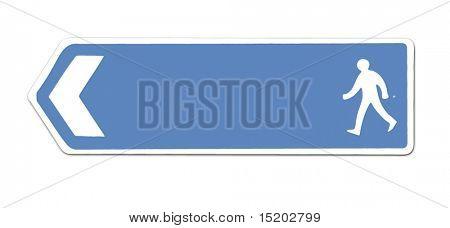 azul de la muestra