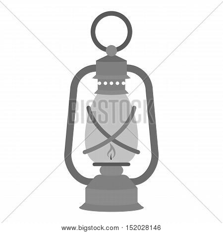 Lantern icon in monochrome style isolated on white background. Mine symbol vector illustration.