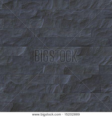 schwarz Steinmauer